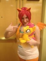 Scootaloo posable plush at Everfree NW 2013 by FireflyFarm