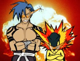 Kamina+Typhlosion by Quicksolver