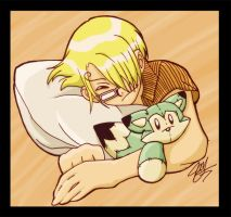 Naptime: Sanji and Zoro by CrimsonDreamer