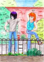 In the park. by bupple