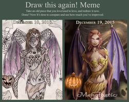 Draw this again! Halloween by Mengtastic