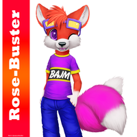 Rose Buster (Birthday gift) by jamesfoxbr