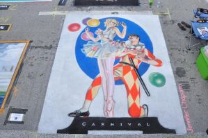 Carnival Street Painting by AmazingStreetPaint