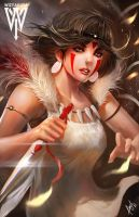 Princess Mononoke by wizyakuza