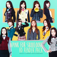 Apink for Skoolooks HD PNG by GiosylZhang