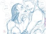 Avengers-slash: frostiron- stark and loki by chevalier-elyam