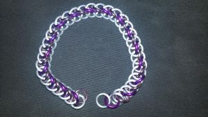 MLP Themed Sweetie Belle Chainmail Bracelet-1 by TheGiantsnoll