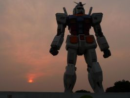 Gundam at dusk by nejinoki