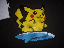 Surfing Pikachu Sprite by Althalnos