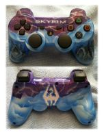 Skyrim PS3 wirless controller by chrisfurguson