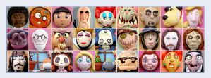 Polymer clay FACES by buzhandmade