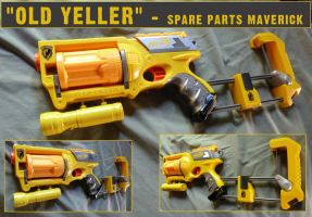 Old Yeller - Spare Parts NERF Maverick Mod by MarcWF