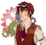 The Clumsy Inventor (transparent) by Abominableve