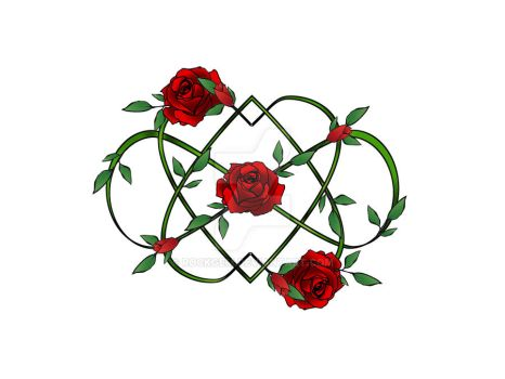 Infinity hearts and roses by rockgem