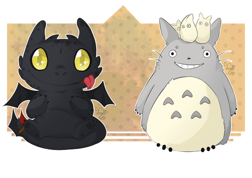 Toothless Totoro by Tenshi-Go