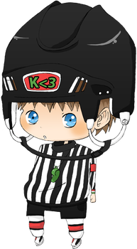 I'm the referee. Any question? by Kiktion