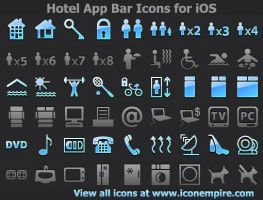 Hotel App Tab Bar Icons for iOS by Iconoman