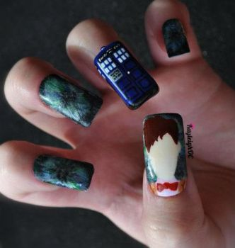 Doctor Who Nail Art - The Eleventh Doctor by KayleighOC