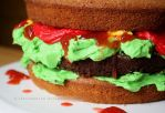 Burger Cake by claremanson