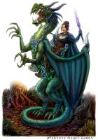 Dragon Rider for Talisman by feliciacano