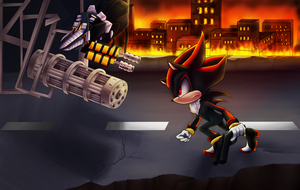 Shadow the hedgehog by AlicetheHeartless