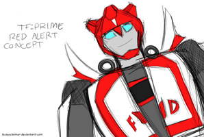 TF Prime: Red Alert Concept by locoexclaimer