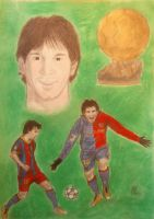 Drawing Lionel Messi by SuperNikolai1996