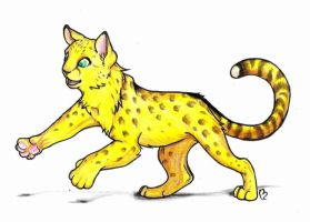 cheetah cat by pandabarrie