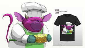 Monster Baker Tee by GrowlBert