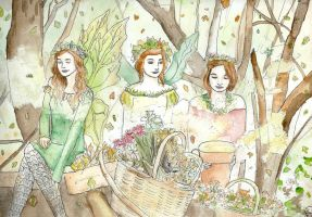 Faeries of Autumn by Puppy-eater