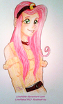 Crossover_ FlutterShy by Compa by LinoNeko
