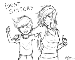 Best Sisters (Humanized Ponies) by ShinZm1911