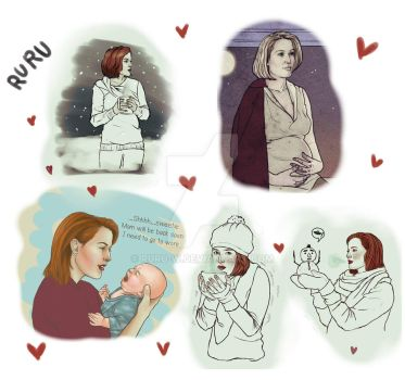 Dana Scully sketch dump by Ruru-W