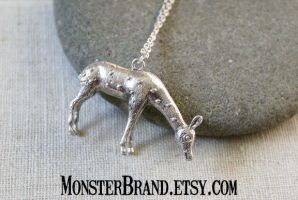 Large Silver Doe Necklace by MonsterBrandCrafts