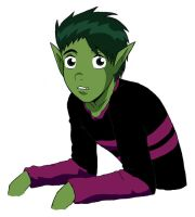 TT - Beastboy colored by HikariDono08
