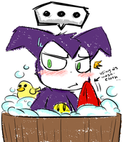 .Impmon without his scarf... by PatchworkedHeart