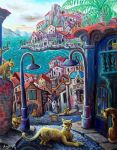 a small town full of cats by rodulfo
