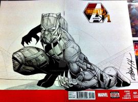 Captain America 3 Black Panther sketch cover by steelcitycustomart