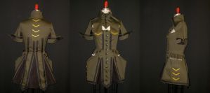 Militarism Dress by MaryjaneDesignStudio