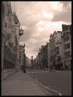 Empty London Street by vickibruce