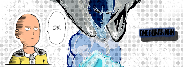 One Punch Man Facebook Cover by miahatake13