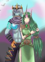 Soraka and Varus League of Legends by Cipni