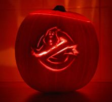 Ghostbusters Pumpkin by mikedaws
