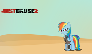 Rainbow Dash x Just Cause 2 - 100 Watchers Special by Anxet