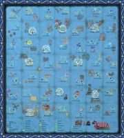 The Wind Waker Full Sea Chart w/ Pictures!!! by zantaff