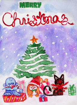Pokemon Christmas by The-Color-Blue