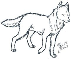 iScribb Wolf Sketch by Joava
