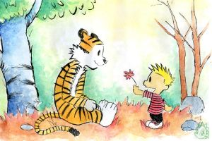 Calvin and Hobbes - flower 4 u by flickersowner