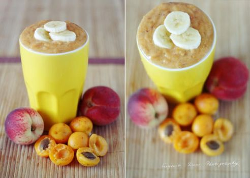 Peach Banana And Apricot Smoothie by eugene-dune