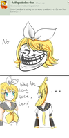 Rin, do you like Bananas? ( Question 15 ) by AskKagamineRin02